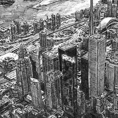 Toronto Skyline - Original drawings