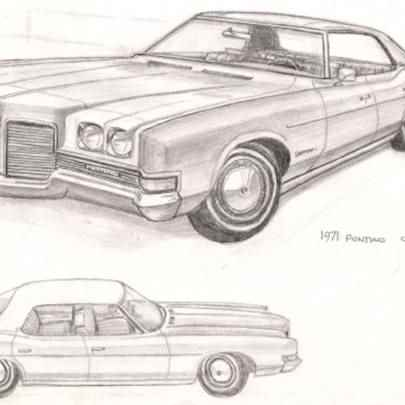 1971 Pontiac Catalina - Original drawings