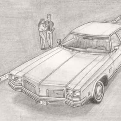 1972 Oldsmobile Delta 88 Royale Town Sedan - Original drawings