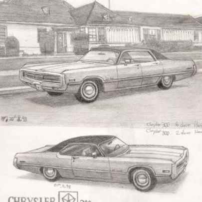 Chrysler 300 - Drawings - Originals, prints and limited editions