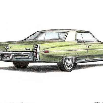 1972 Cadillac Calais - Original drawings
