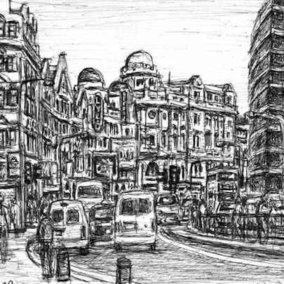 Shaftesbury Avenue - Original drawings