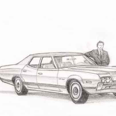 1972 Ford Gran Torino - Original drawings