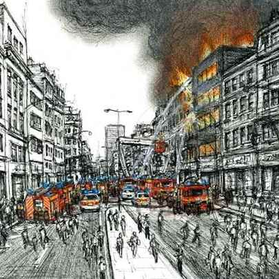 London burning - Original drawings
