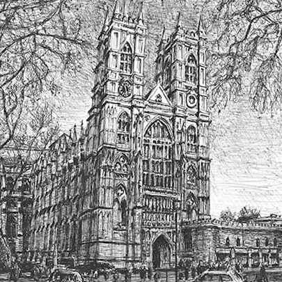 Westminster Abbey, London - Original drawings