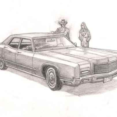 1971 Lincoln Continental Town Car - Drawings - Originals, prints and limited editions