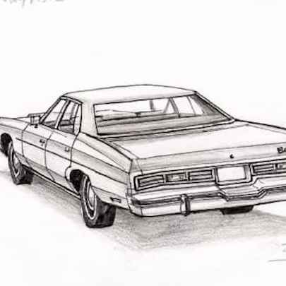 1975 Chevy Impala Sedan - Original drawings