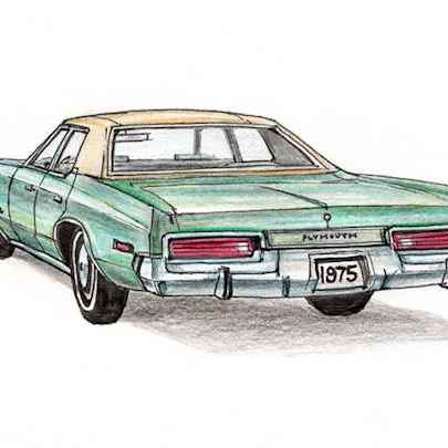 1975 Plymouth Gran Fury Sedan - Original drawings