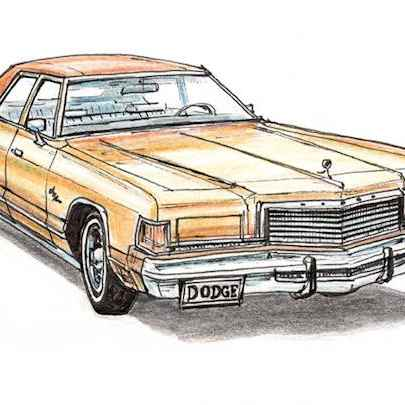 1975-77 Dodge Royal Monaco Brougham Sedan - Drawings - Originals, prints and limited editions