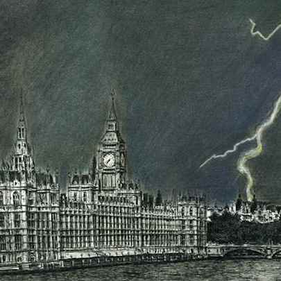 Lightning Strikes Parliament - Original drawings