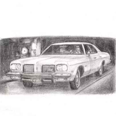 1974 Oldsmobile Delta 88 Royale - Drawings - Originals, prints and limited editions