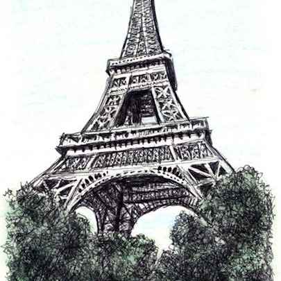 The Eiffel Tower, Paris - Original drawings