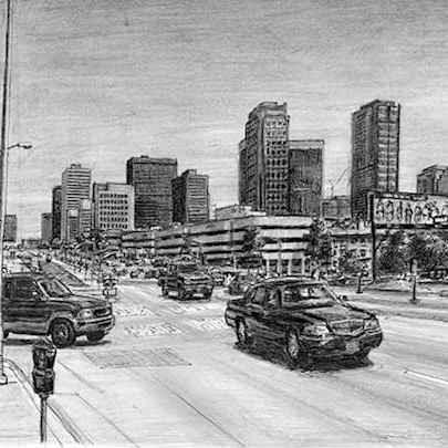 Santa Monica Boulevard - Original drawings