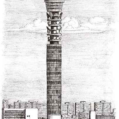 BT Tower London - Drawings - Originals, prints and limited editions
