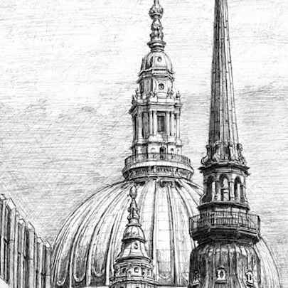 The Dome of St Pauls Cathedral - Drawings - Gallery