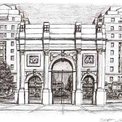 Drawing of Marble Arch London