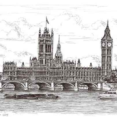 Houses of Parliament - Drawings - Originals, prints and limited editions