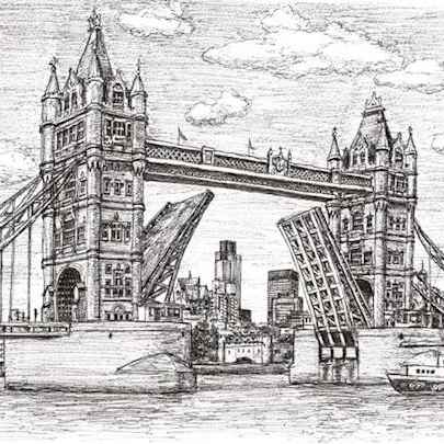 Tower Bridge - Drawings - Originals, prints and limited editions