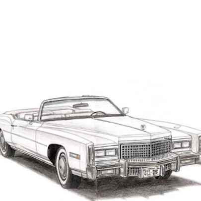1975 Cadillac Eldorado Convertible - Original drawings