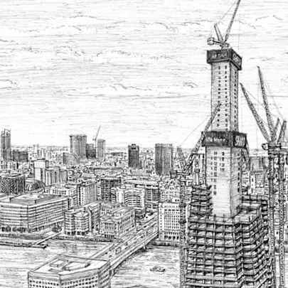 Shard - Drawings - Originals, prints and limited editions