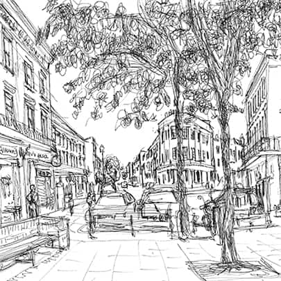 Drawing of Notting Hill