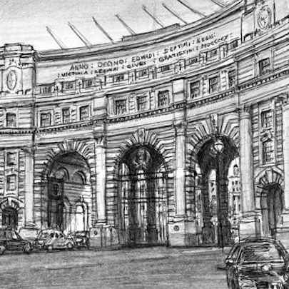 Admiralty Arch Whitehall - Original drawings