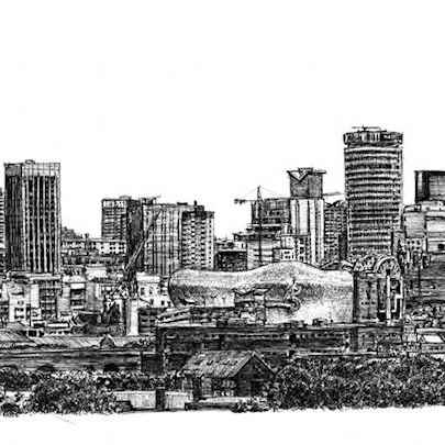 Birmingham skyline - Original Drawings