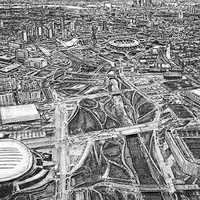 Aerial view of the Olympic village (A4 print)1 - Prints for sale