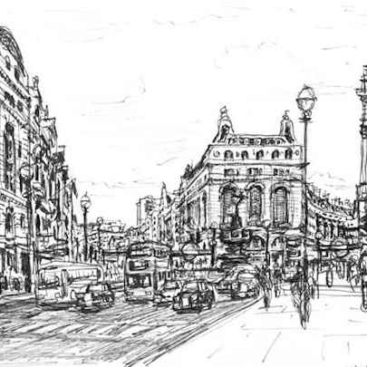 Piccadilly Circus - Original drawings