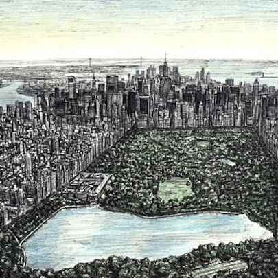 Central Park, New York - Original Drawings