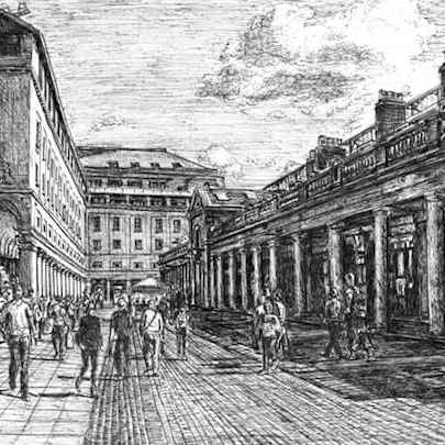 Covent Garden (London) - Drawings - Originals, prints and limited editions