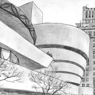 Guggenheim Museum in New York - Drawings - Gallery