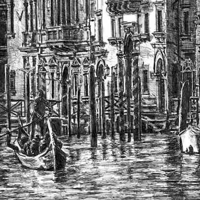 Venice - Drawings - Originals, prints and limited editions