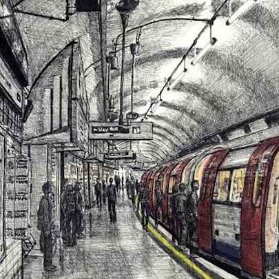 Leicester Square tube station, London - Original Drawings