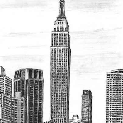 Empire State Building, NY - Original drawings