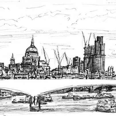 St Pauls and the City of London skyline - Original drawings