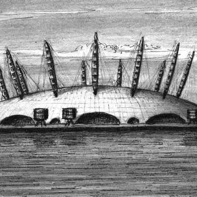 Millennium Dome London - Original drawings and Architectural Art