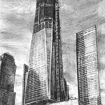 Freedom Tower in construction  - Original Drawings