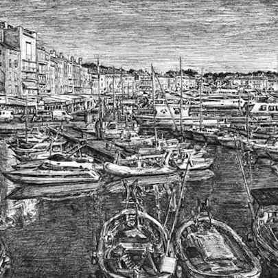 Saint Tropez - Drawings - Originals, prints and limited editions