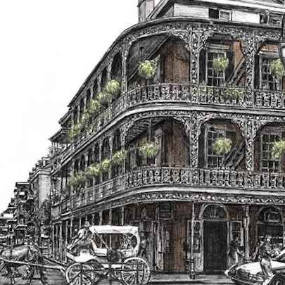 New Orleans USA - Drawings - Originals, prints and limited editions