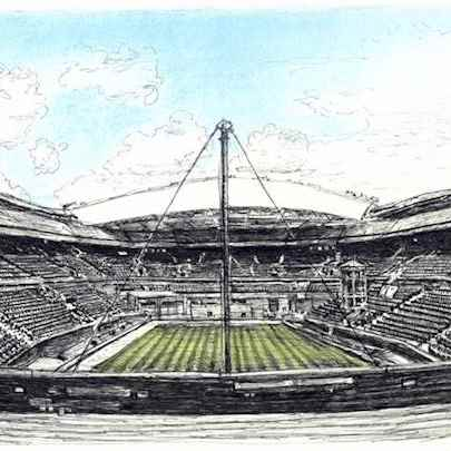 Centre Court, Wimbledon - Drawings - Originals, prints and limited editions