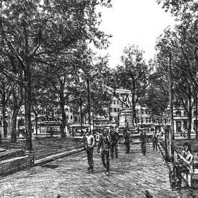 Leicester Square (London) - Drawings - Originals, prints and limited editions
