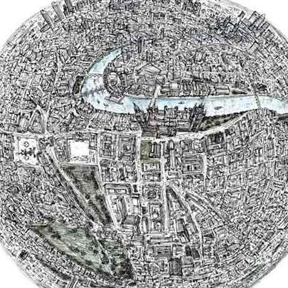 The Globe of London - Drawings - Originals, prints and limited editions