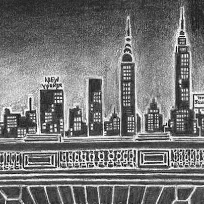 New York silhouette - Drawings - Originals, prints and limited editions