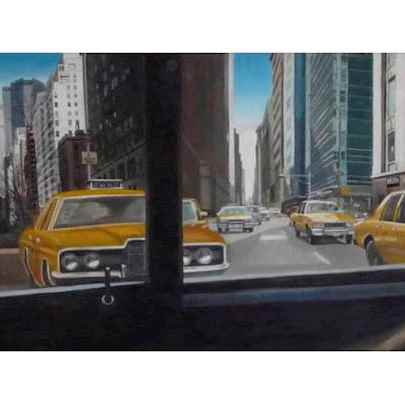 Collage of New York (Graduation work) - oil on board - Paintings - Gallery