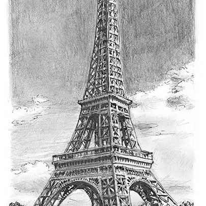 Eiffel Tower, Paris - Original Drawings