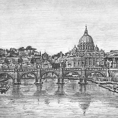 Rome, Italy - Original drawings