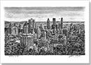 Downtown Montreal - Drawings - Originals for sale