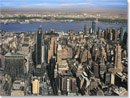 Manhattan Skyline from top of Empire State - oil on canvas - Originals for sale