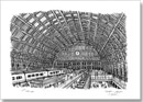 Interior of St Pancras Station - Originals for sale